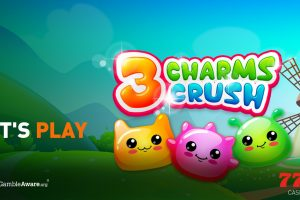 Play 3 Charms Crush, the sparkling online slot from iSoftBet